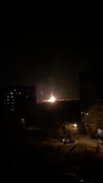 На востоке Луганска взрыв и крупный пожар на газораспределительном узле. ФОТО