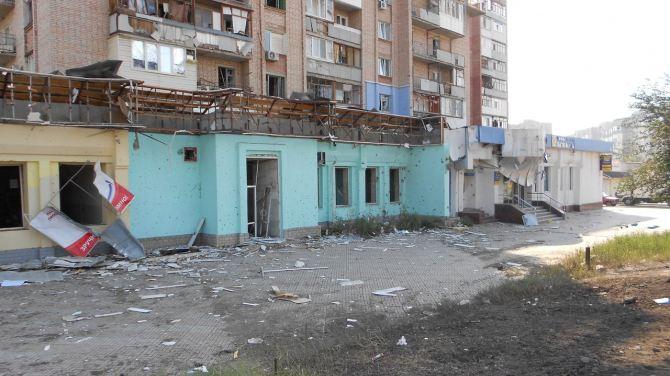Карта попадании в луганске