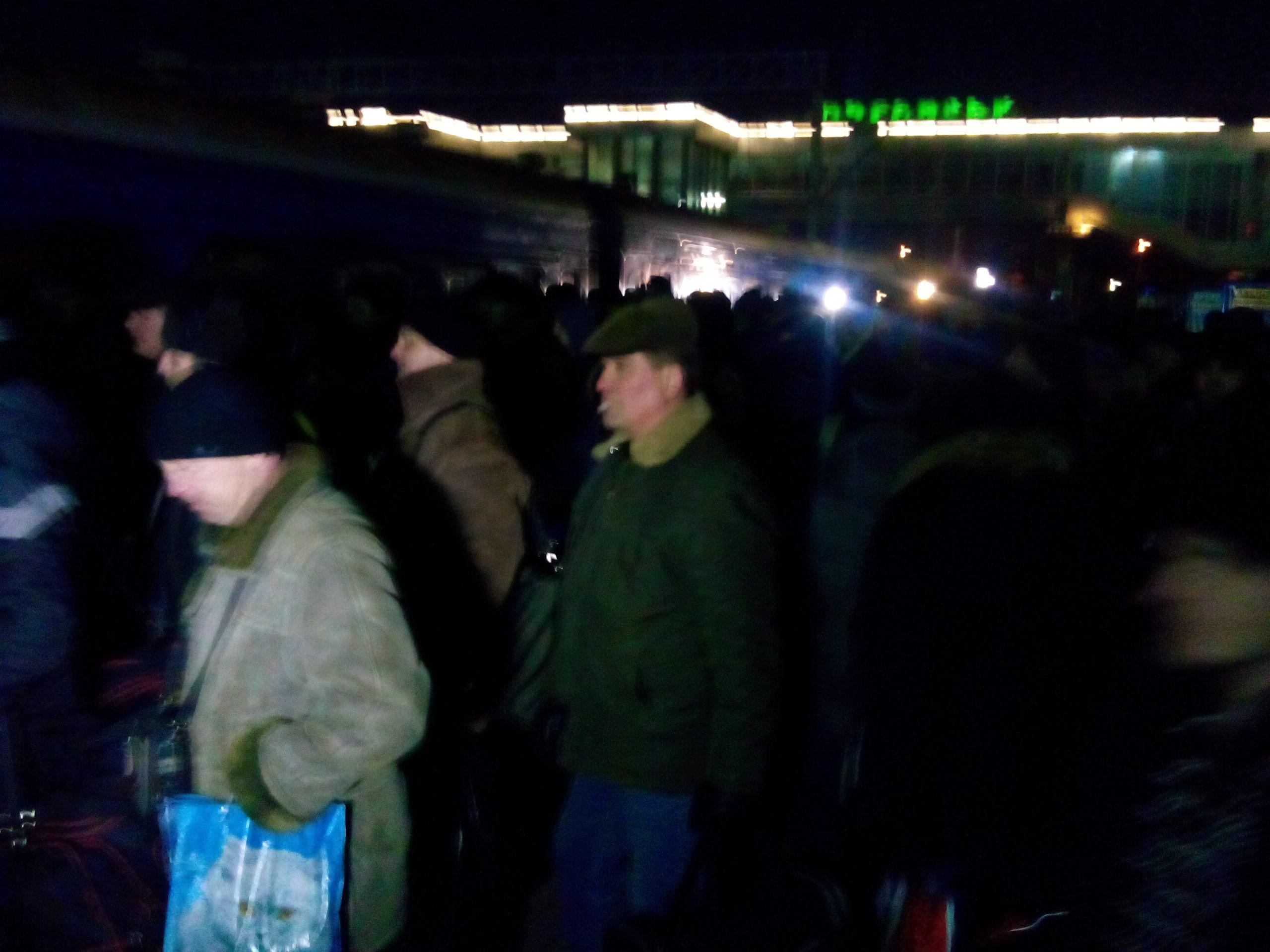 Луганских активистов провожают на Антимайдан в Киев +