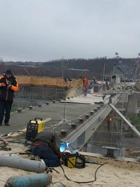 Список работ проведённых на мосту в Станице Луганской за последние сутки. Фото