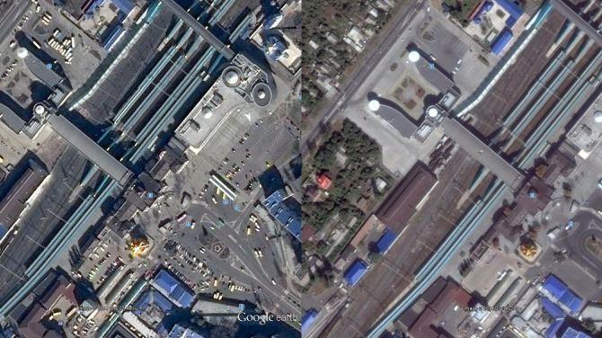 Донецк в Google Maps: до начала боевых действий и после +
