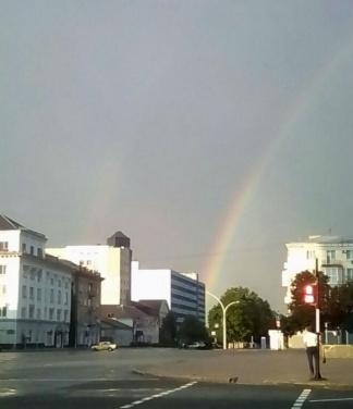 В небе над Луганском появилась двойная радуга. ФОТО